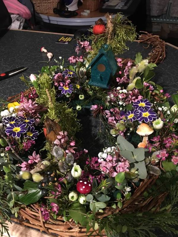 Katherine loved buirds and Nature, so my wreath is to capture what she loved so much
